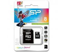Silicon Power Micro SDHC incl. SD Adapter 8GB Class 10