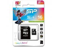 Silicon Power Micro SDHC incl. SD Adapter 16GB Class 10